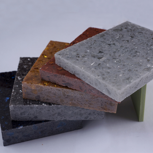Engineered quartz sample colors