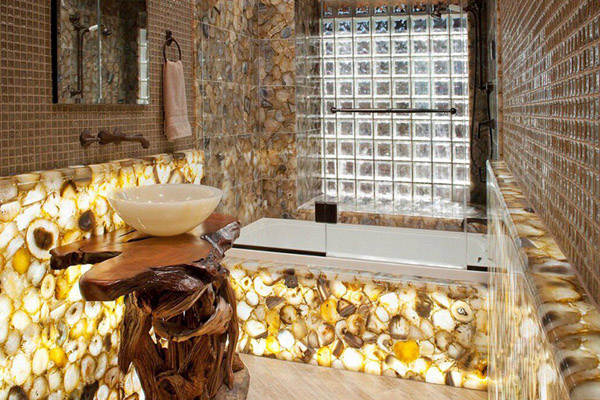 Bathroom decoration luxurious stone