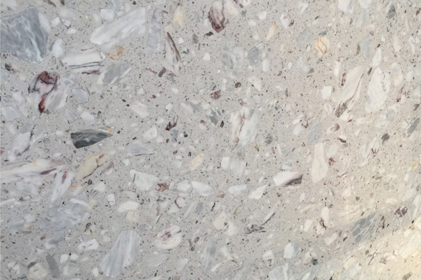 Grey agglomerate marble