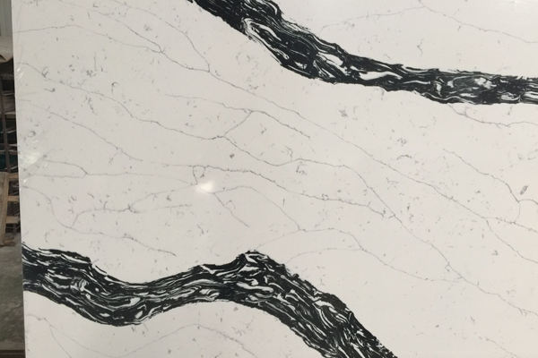 panda white quartz slab engineered stone