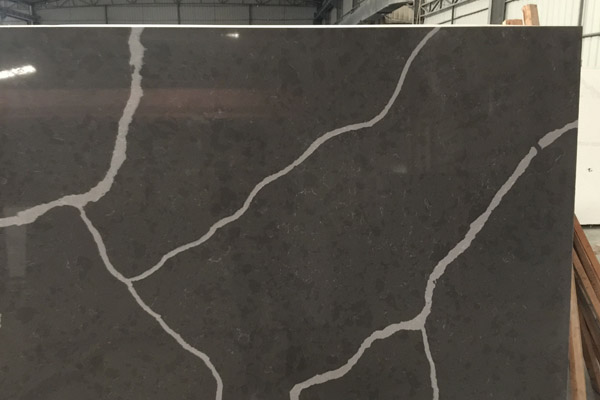 Calacatta marble design grey quartz slab