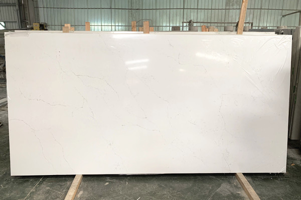 long marble vein quartz surface slab