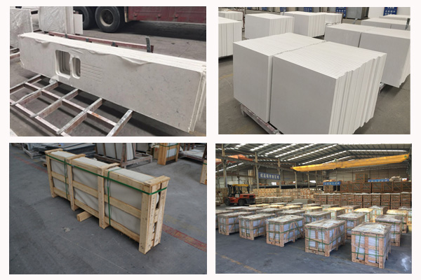 cut to size quartz top packing