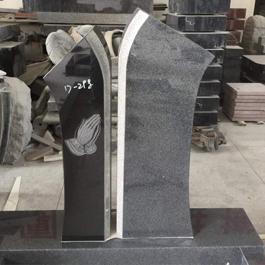 Black Granite Headstones Inscription