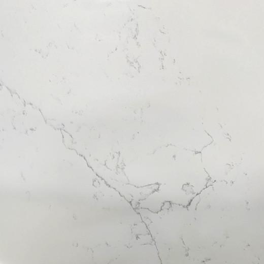 Long marble vein quartz surface